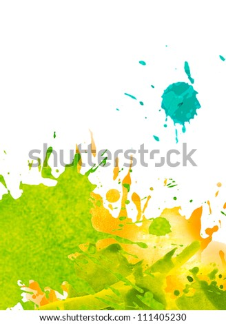 watercolor paint splash background