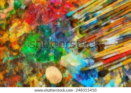 Brushes For Oil Painting Painting Art Brushes