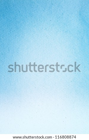 Watercolor Paper Texture For Artwork / Old Blue Paper Texture - stock photo
