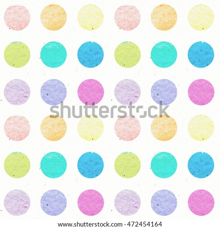 watercolor rainbow pattern polka dot