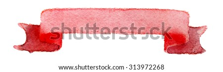 watercolor ribbons for design on a white background - stock photo