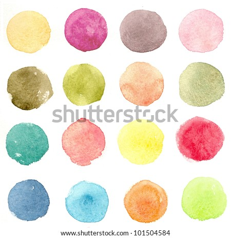 Watercolor seamless pattern #1 - stock photo