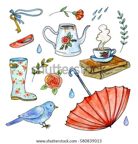 Rainning Plants Cartoons Gallery - Diagram Writing Sample ...
