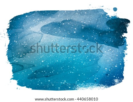 Watercolor Sky - stock photo