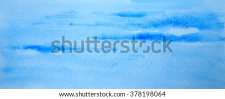 Watercolor sky painting - stock photo