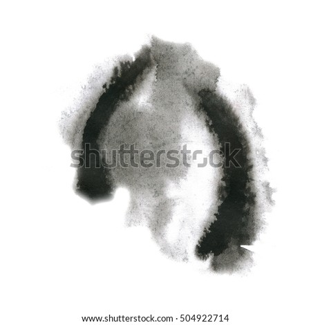 watercolor splash. black watercolor abstract drop isolated blot for your design