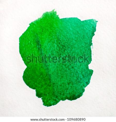 Watercolor spot - stock photo