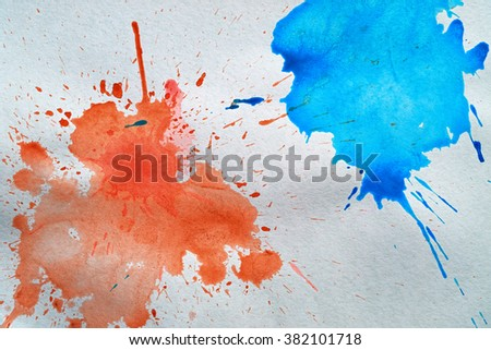 Watercolor stains on watercolor paper - stock photo