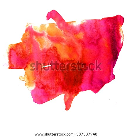 watercolor  strokes paint yellow red stroke texture color with space for your own text - stock photo
