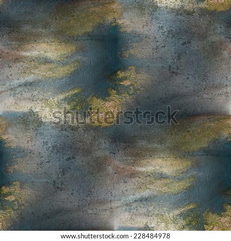 watercolor texture  brown, dark blue  background wallpaper seamless pattern hand-drawing - stock photo