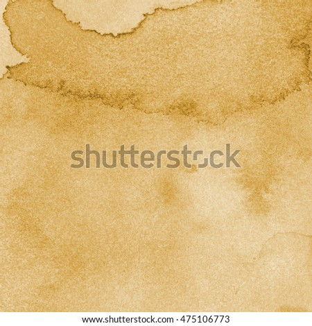 watercolor texture ocher light brown color with crude brush effects, marble. background