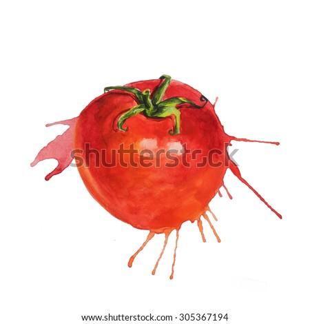 Splattered tomato