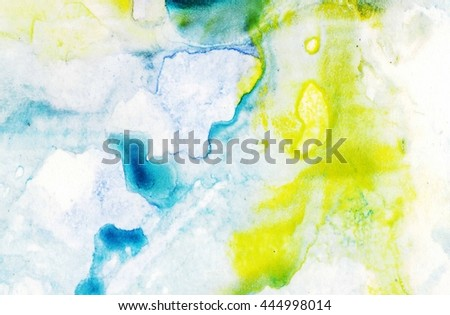 Watercolor wash. Abstract painting. Watercolor wash. Ink marble texture
