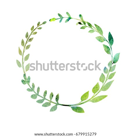 Watercolor Wreath Made Field Meadow Herbs Stock Illustration ...