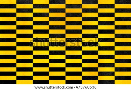 Watercolor yellow and black striped background. Black monochrome pattern.