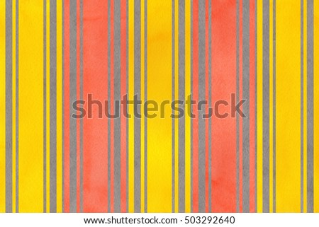 Watercolor yellow, salmon pink and gray striped background.