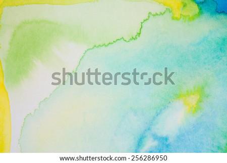 watercolors - stock photo