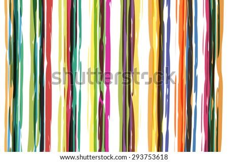 Watercolors stripes pattern  - stock photo