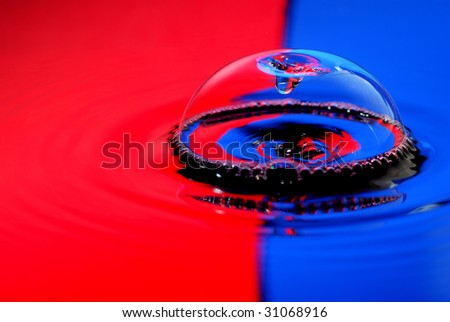 Waterdrop with bubble