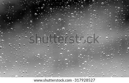 waterdrops bubbles on a dark background