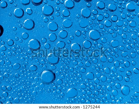 Waterdrops from back