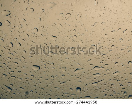 Waterdrops on a glass surface - stock photo