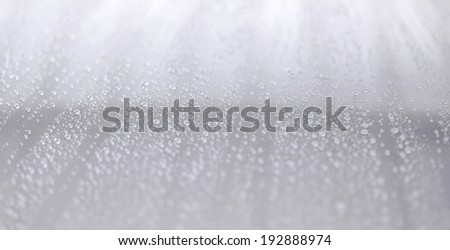 Waterdrops on a glass surfacee - stock photo