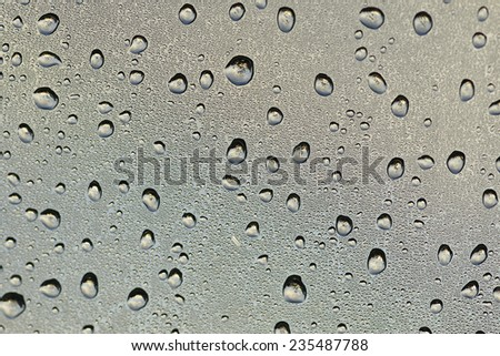 Waterdrops on glass - stock photo