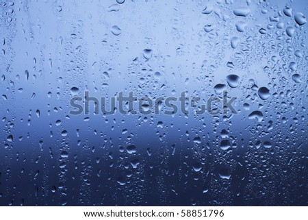 waterdrops on the glass - stock photo