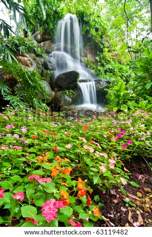 Waterfall and Garden in Assumption University, Thailand