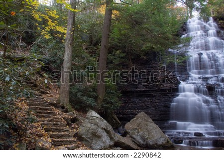 Waterfall at chilhowee national park tennessee mountains