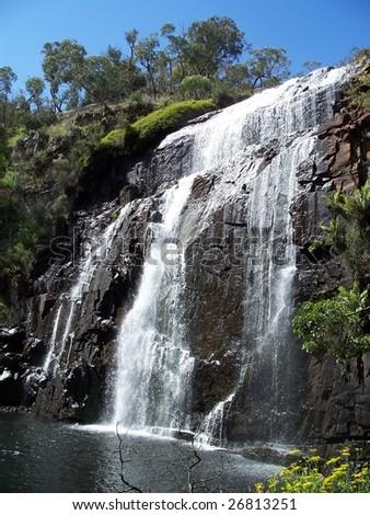 Waterfall at Mackenzie falls - stock photo