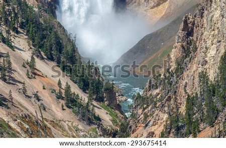 Waterfall at the Yellowstone National Park  (Wyoming waterfall Wyoming waterfall Wyoming waterfall Wyoming waterfall Wyoming waterfall Wyoming waterfall Wyoming waterfall Wyoming waterfall)
