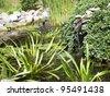 waterfall background - stock photo