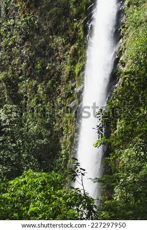 Waterfall Catarata Rio Fortuna in Costa Rica - La Fortuna, Alajuela province, Costa Rica - stock photo
