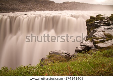 waterfall dettifoss on iceland