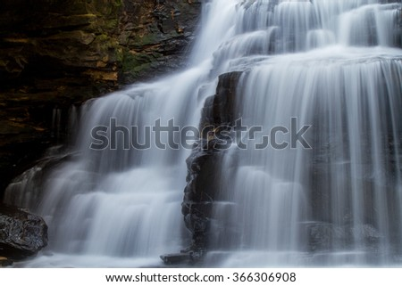 Waterfall flowing through the forest