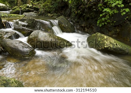 Waterfall in a forest ,Beautiful Waterfalls Krok I Dok, Saraburi, Thailand