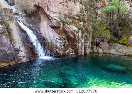 Colorful spring scene inside goynuk canyon stock photo - Crystal pools waterfall ...