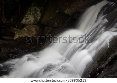 Waterfall in deep forest at Phu Kradueng National Park in Thailand