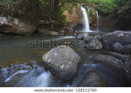 Waterfall in deep forest of Kaoyai,Thailand