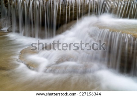 Waterfall in forest jungle