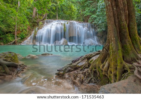 Waterfall in forest of Thailand