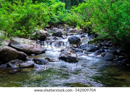 waterfall in green forest in at Nan , Thailand