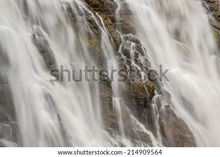 waterfall in Kerala, Wayanad, Indian. - stock photo