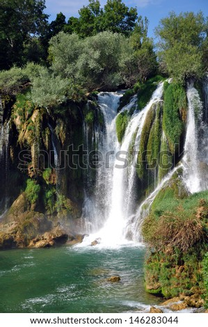 waterfall in kravica(croatia) - stock photo