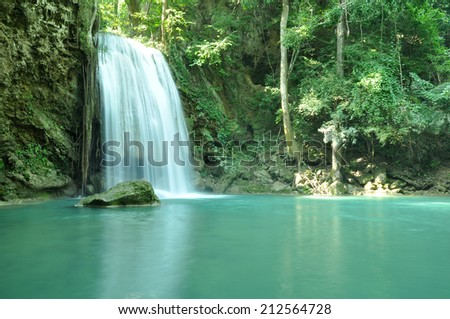 Waterfall in national park, west of Thailand