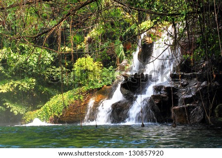 waterfall in nature