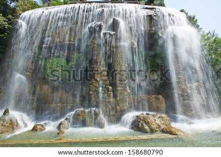 Waterfall in Nice France - HDR - stock photo