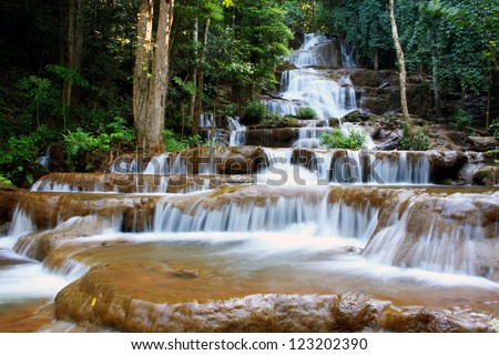 waterfall in PACHAROEN national park, Tak province, Thailand.